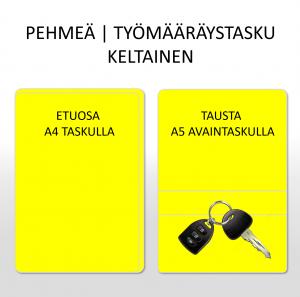 TYÖMÄÄRÄYSTASKU | PEHMEÄ | KELTAINEN