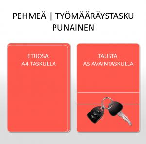 TYÖMÄÄRÄYSTASKU | PEHMEÄ | PUNAINEN